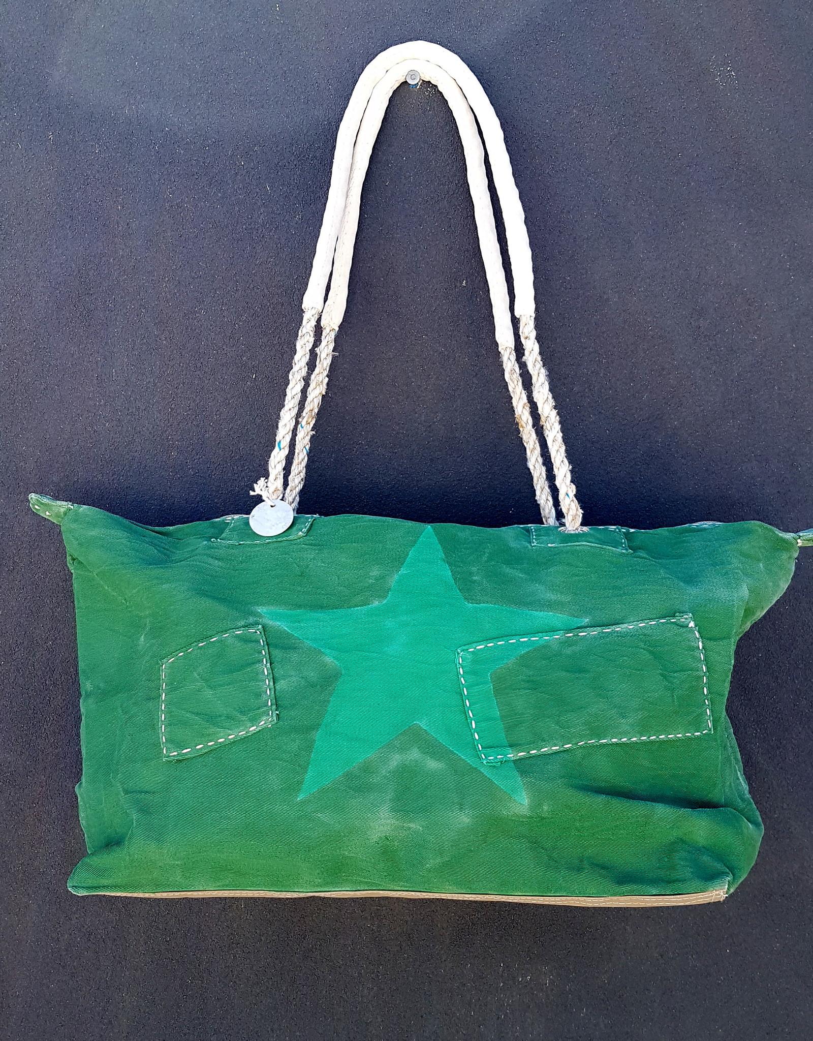 ALI LAMU LARGE WEEKEND BAG EMERALD GREEN STAR
