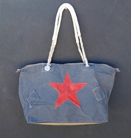 ALI LAMU LARGE WEEKEND BAG CHARCOAL RED STAR