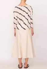 POL FISSON PRINT TOP IVORY