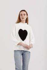 KINNEY HEART SLOUCH KNIT WHITE