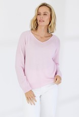 MIA FRATINO LUCIE VEE KNIT LILAC