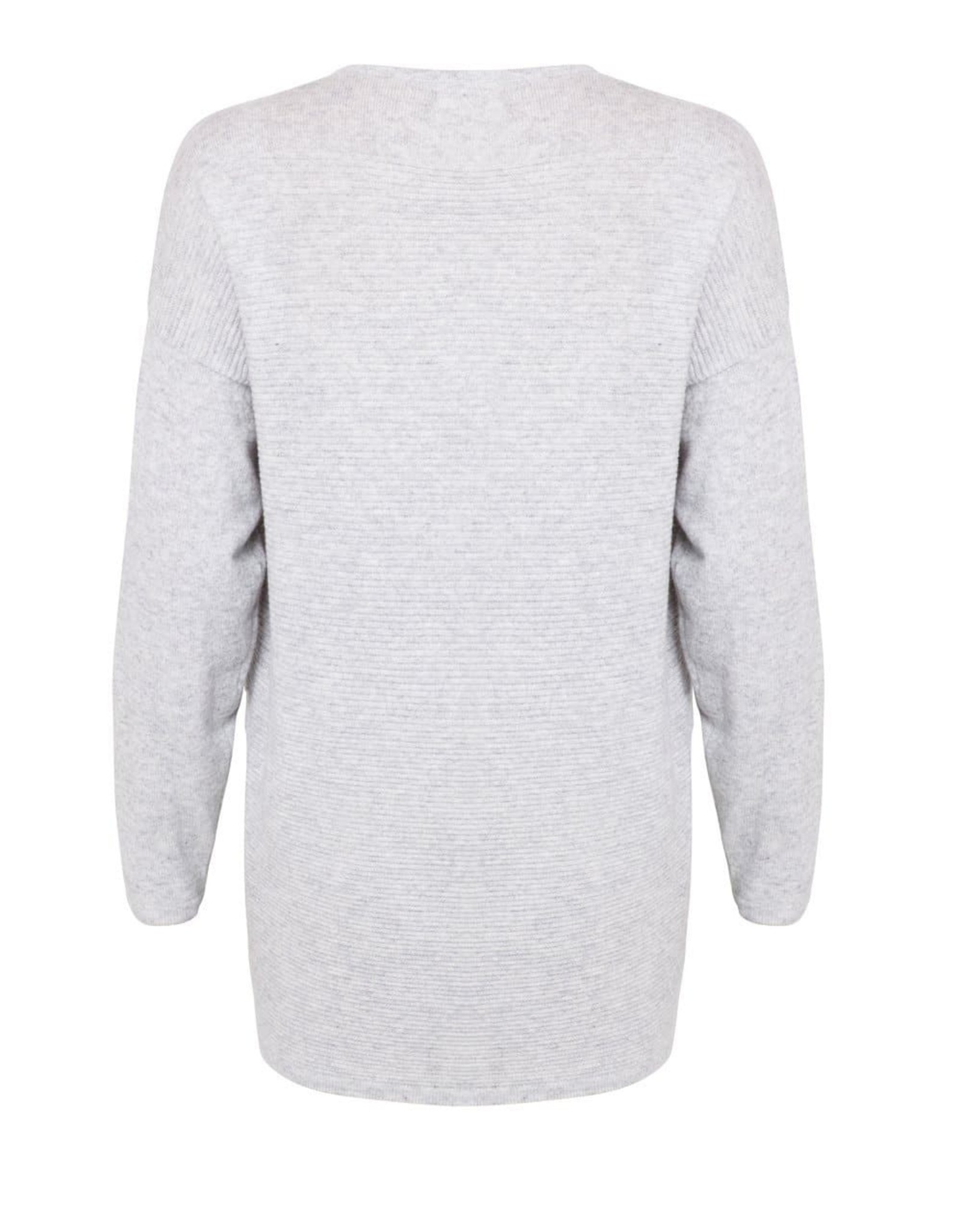 MIA FRATINO FAVOURITE SCOOP SWEATER FOGGY