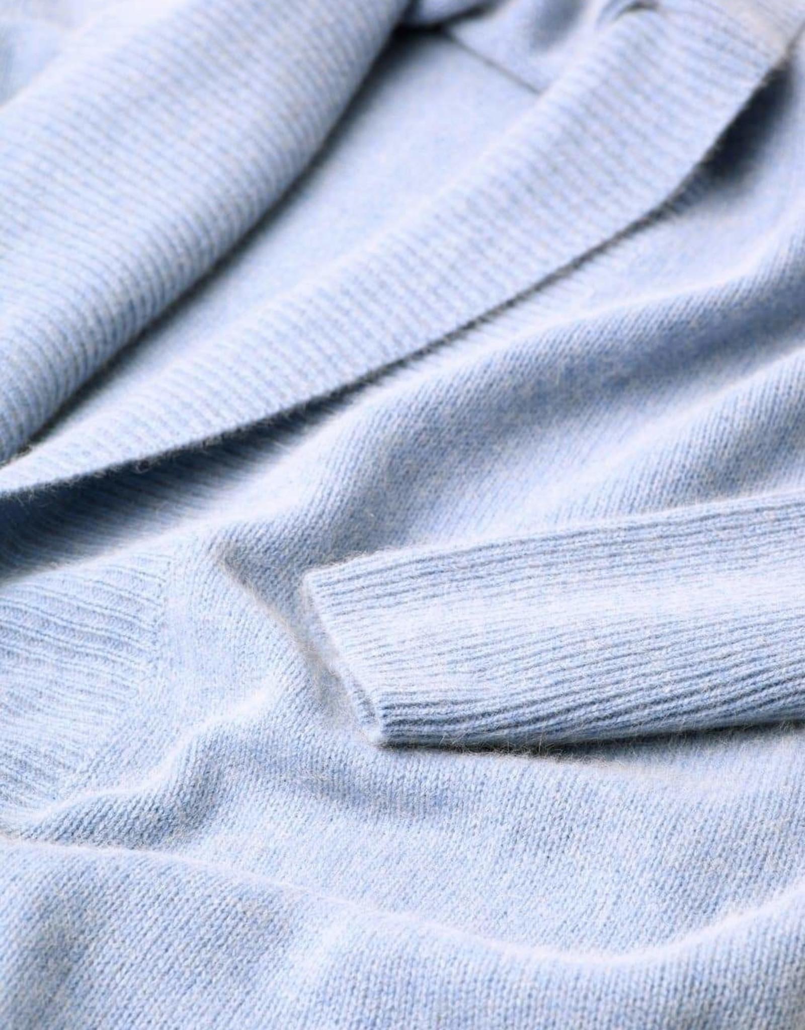 MIA FRATINO CASSIE OVERSIZED CARDI ICE BLUE