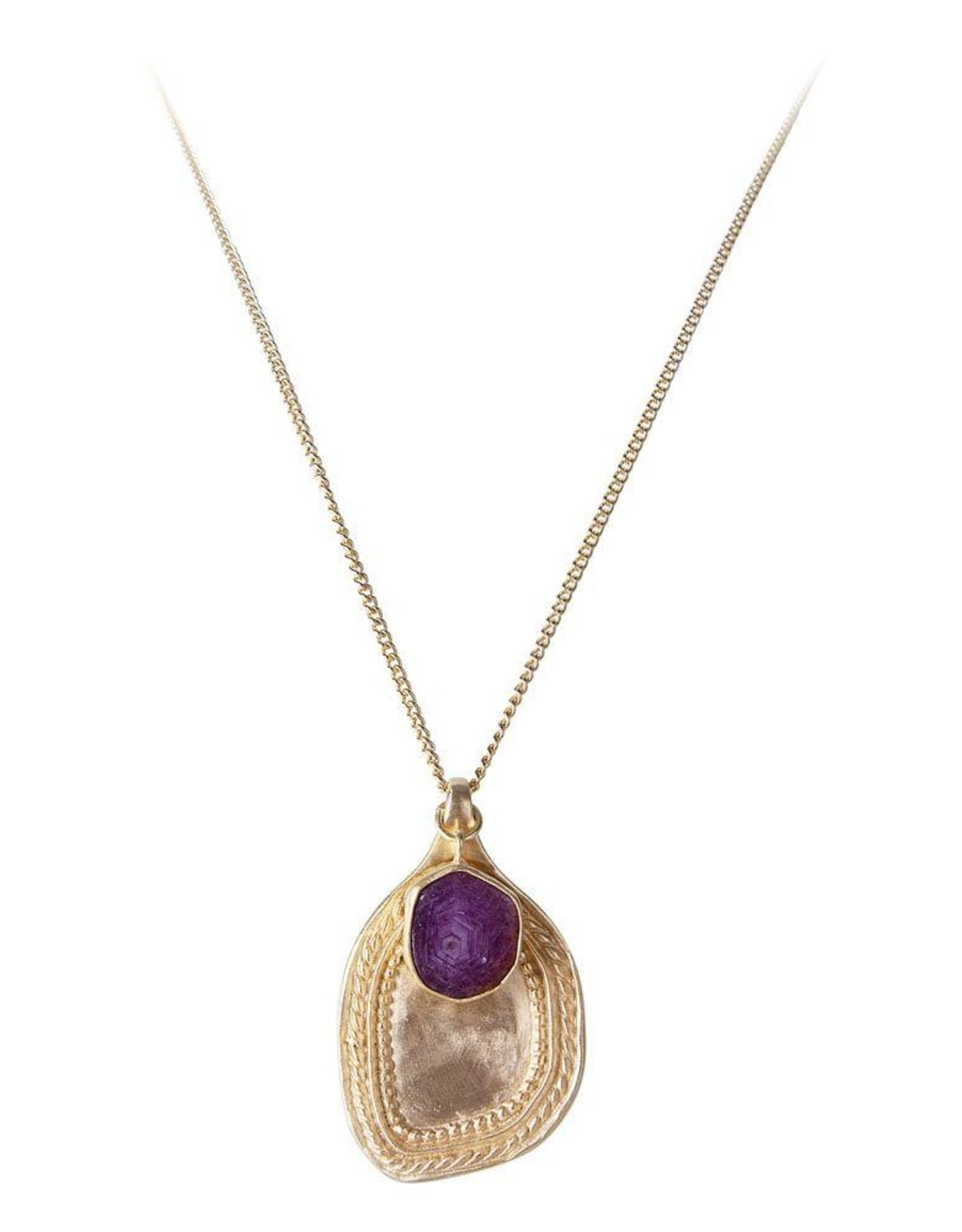 FAIRLEY RUBY PENDANT NECKLACE