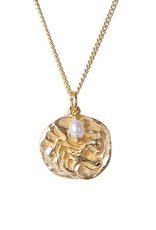 FAIRLEY AKER LION PEARL NECKLACE