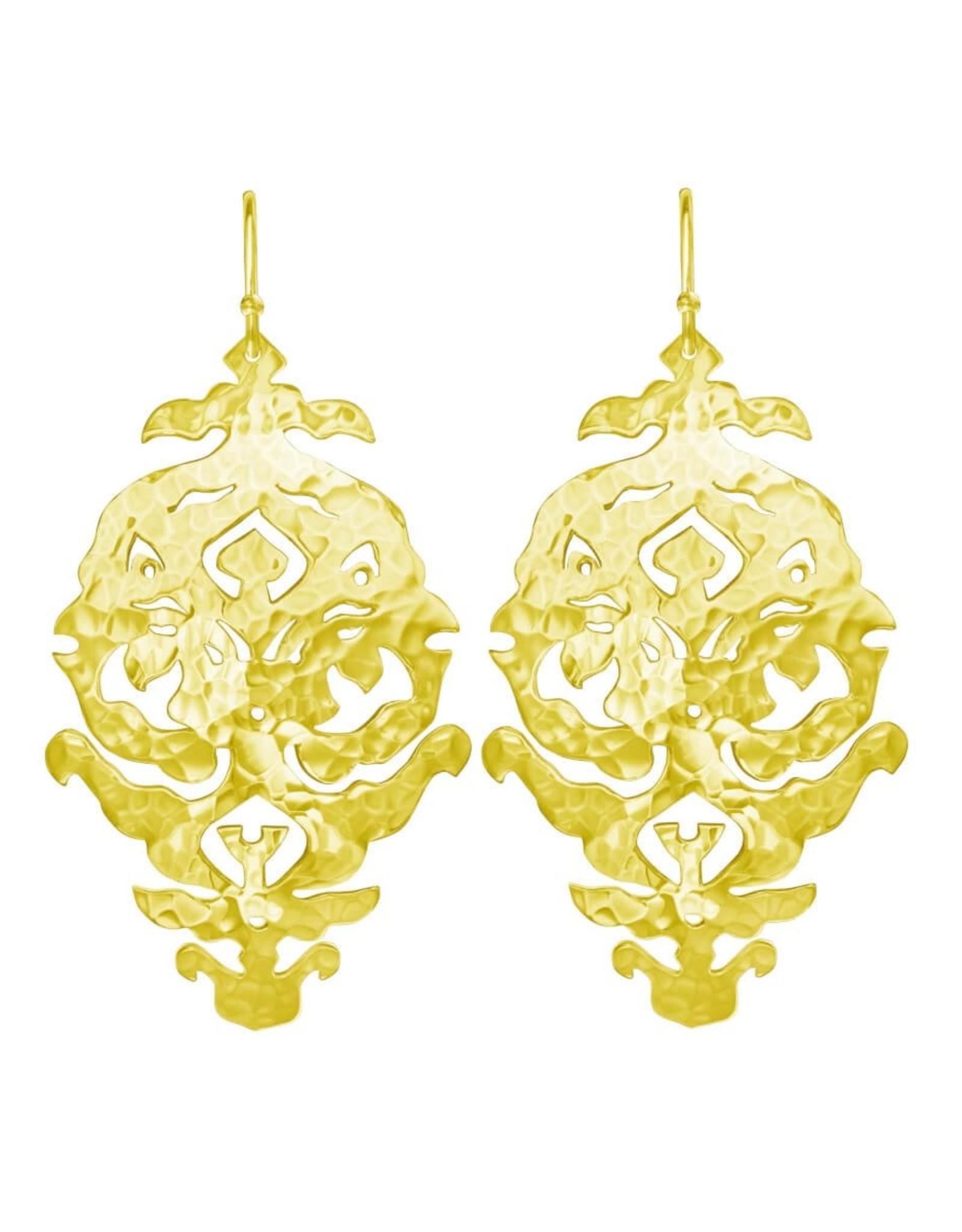 MURKANI EMPIRE EARRINGS YELLOW GOLD