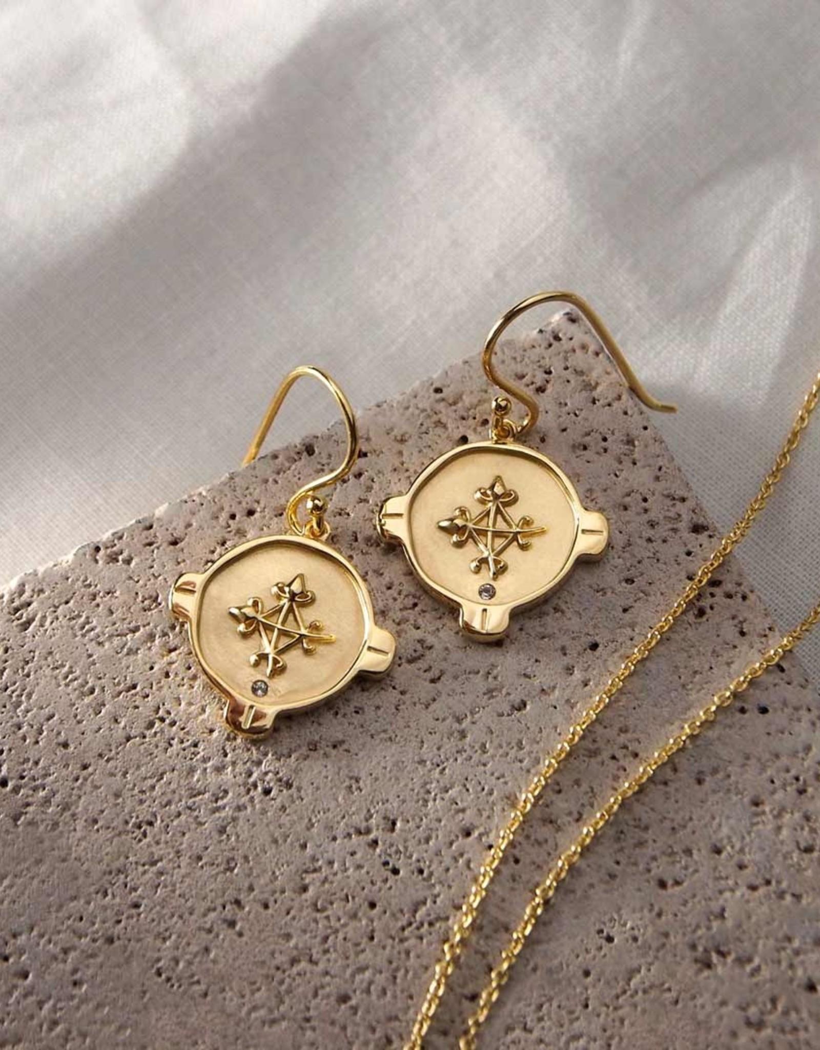 MURKANI HOPE EARRINGS TOPAZ YELLOW GOLD