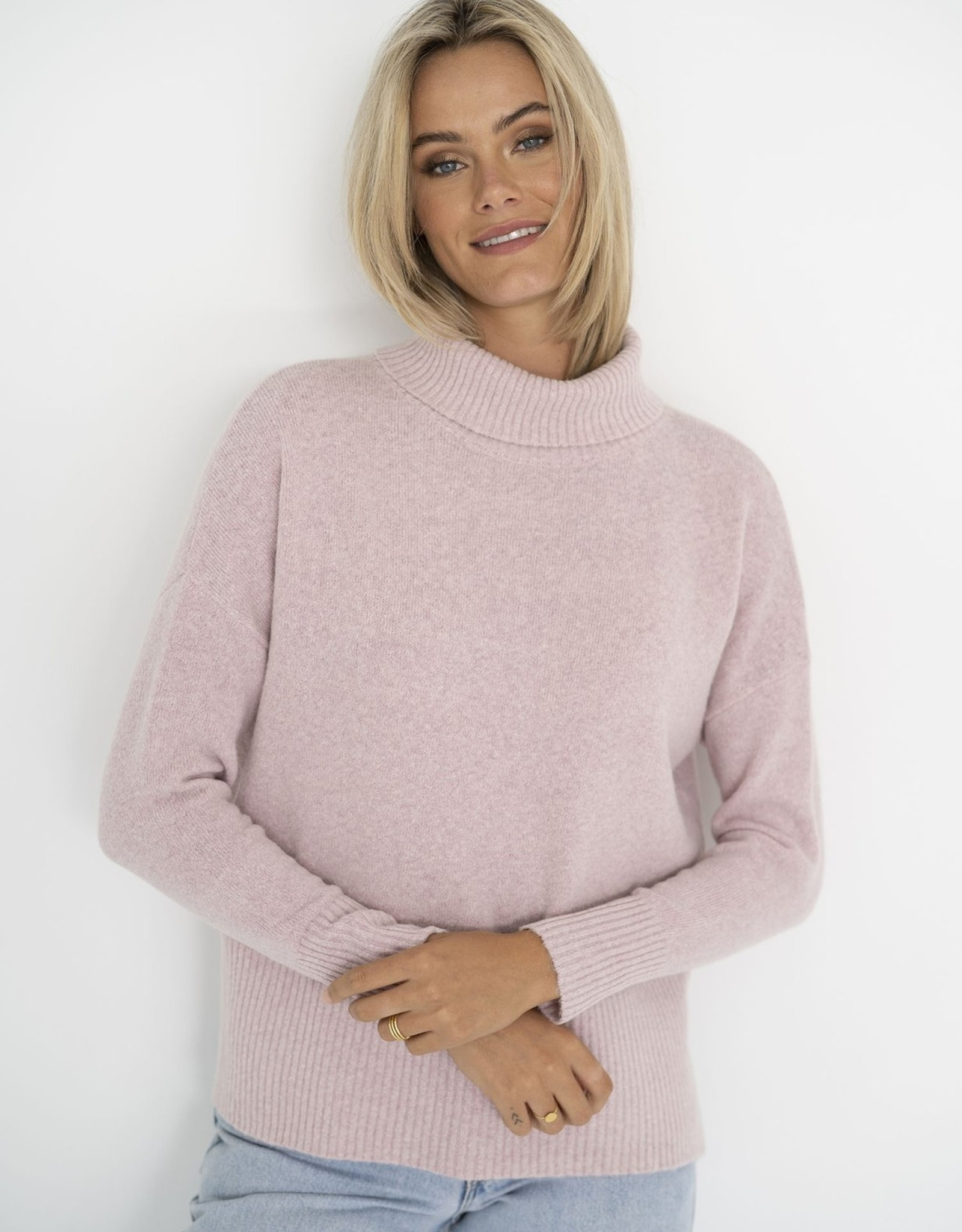 HUMIDITY SERENITY ROLL NECK JUMPER BABY PINK