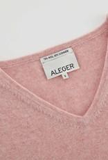 ALEGER CASHMERE BLEND V NECK OVERSIZE SWEATER BLUSH