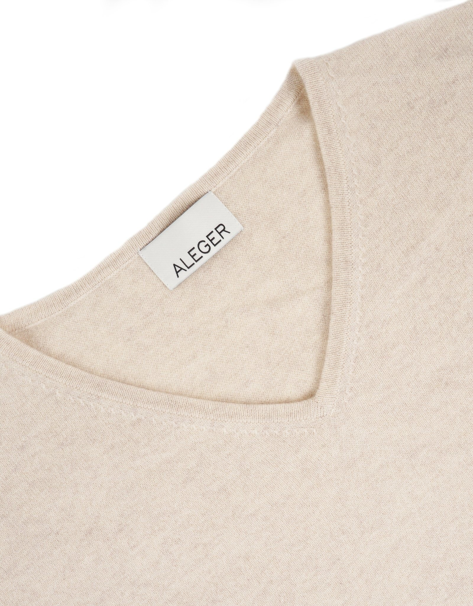 ALEGER CASHMERE BLEND V NECK OVERSIZE SWEATER SHELL