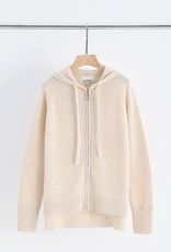 ALEGER CASHMERE CLASSIC ZIP HOODY SHELL