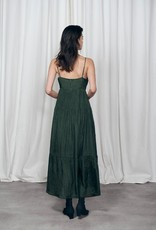 SILK LAUNDRY CRINKLE BOUNCE DRESS  CEDAR