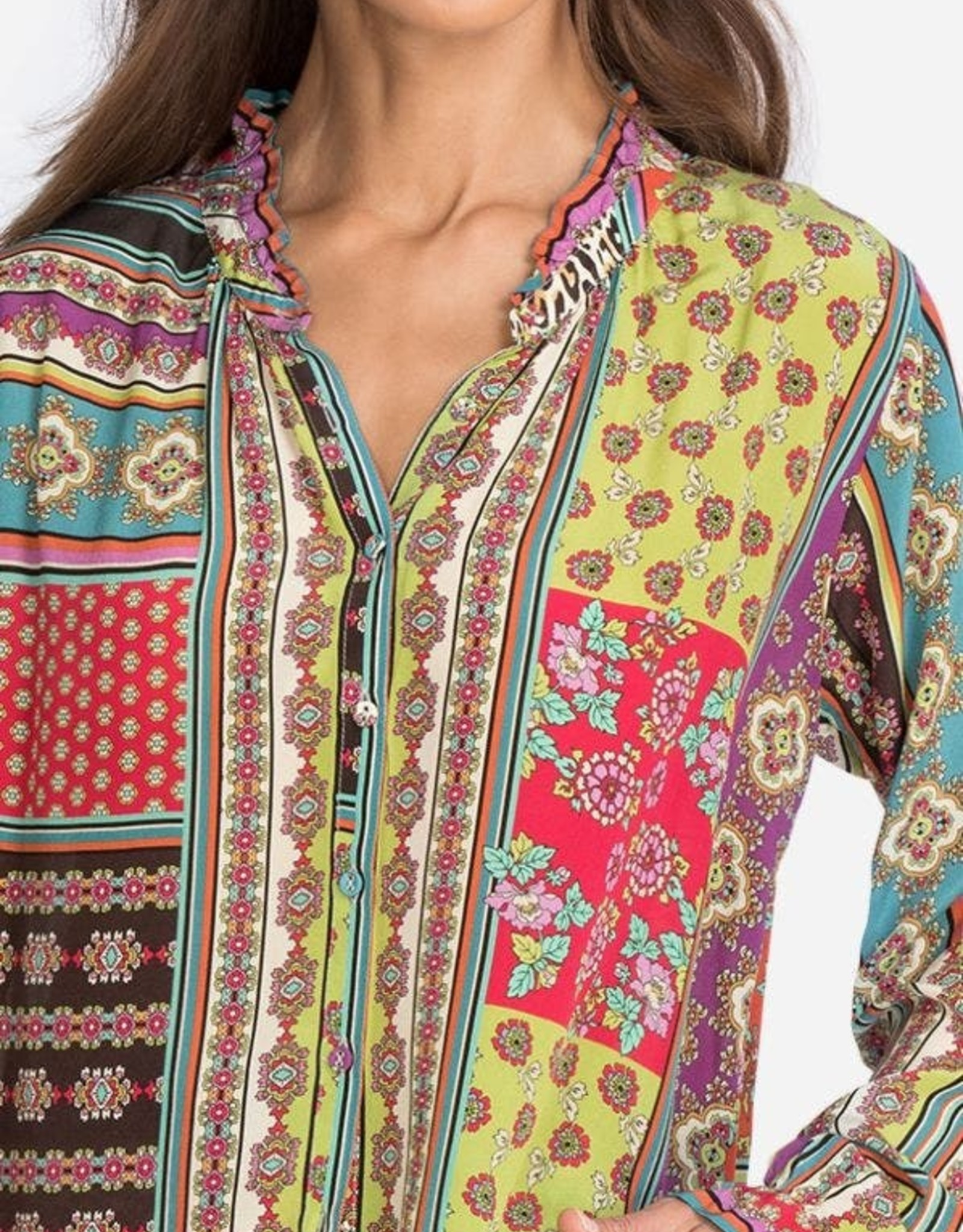 JOHNNY WAS PATCH AMABEL BLOUSE