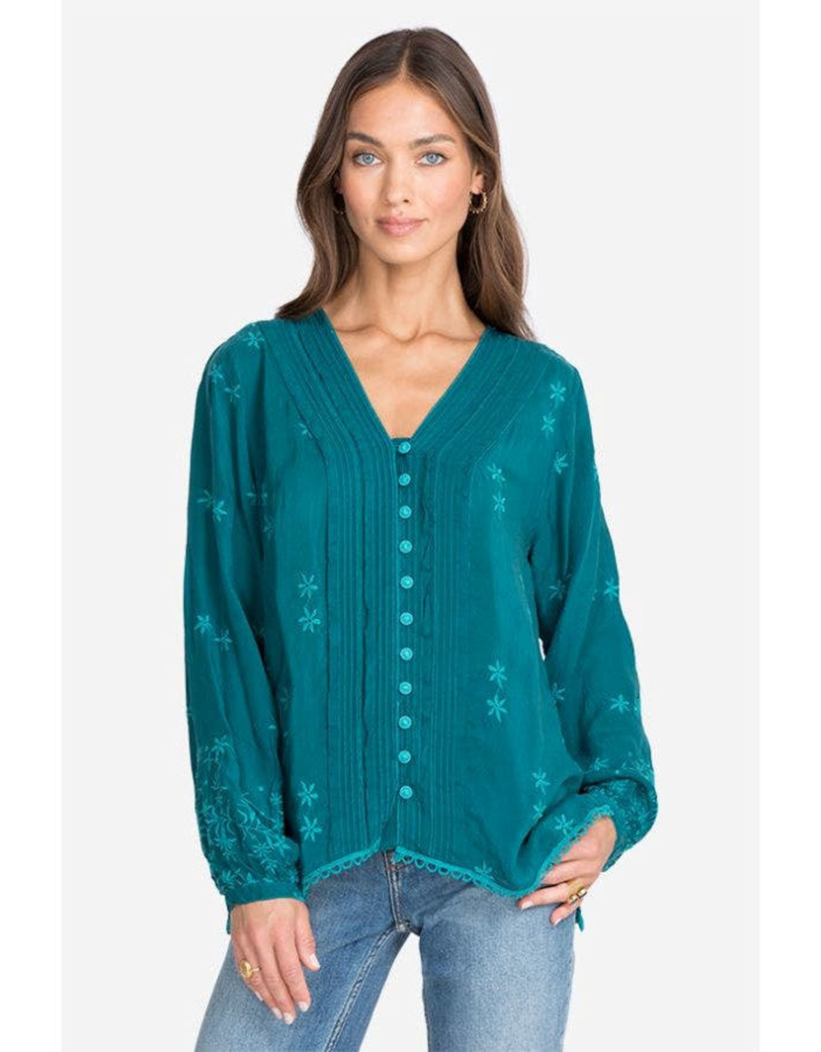 JOHNNY WAS SUNFLOWER DARCY BLOUSE