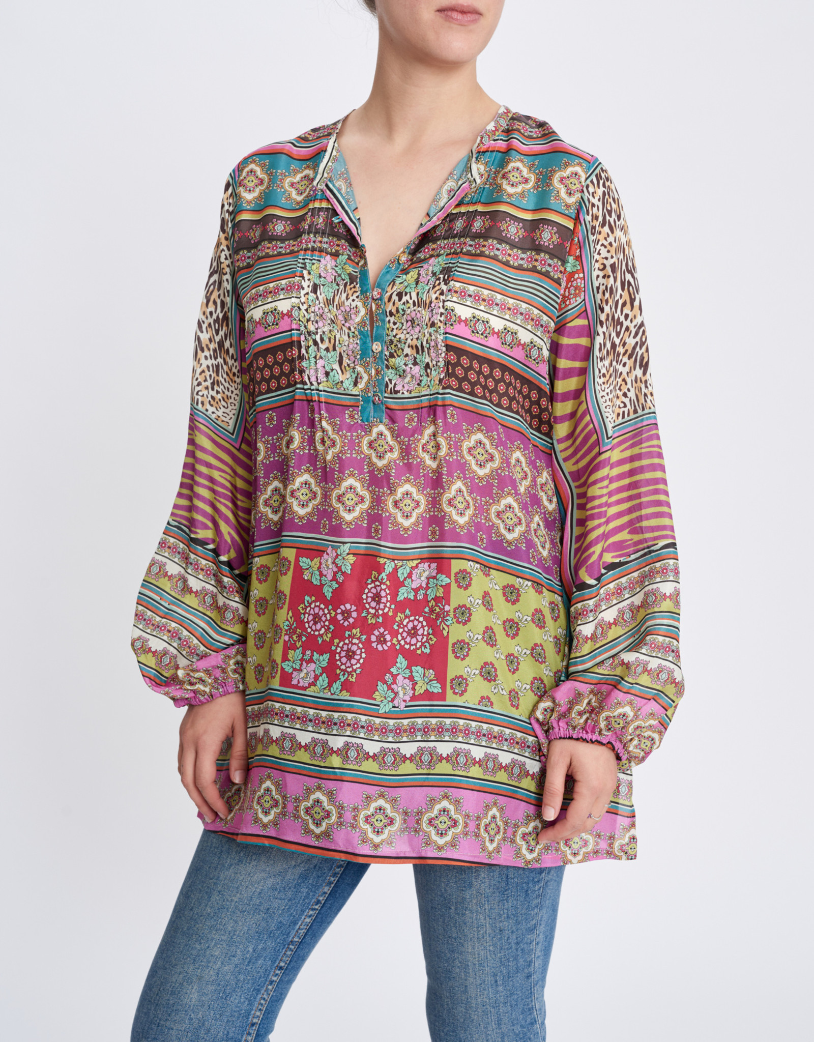 JOHNNY WAS PATCH EVERLY TUNIC