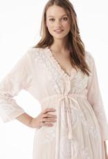 ONESEASON  LONG BYRON DRESS ROSEWATER WHITE