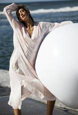 ONESEASON  LONG GOA DRESS ROSEWATER WHITE