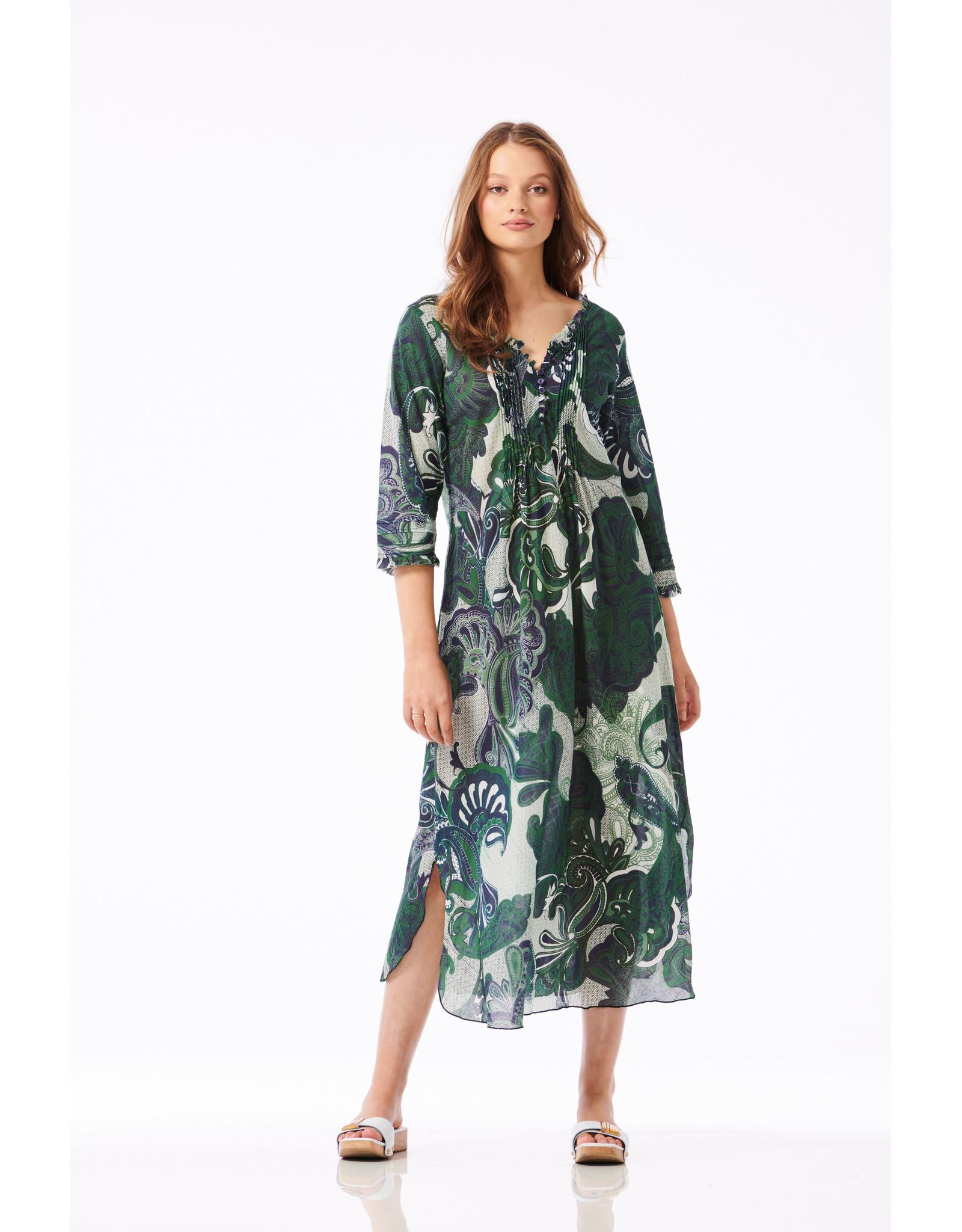 ONESEASON LONG POPPY DRESS SAN MIGUEL EMERALD