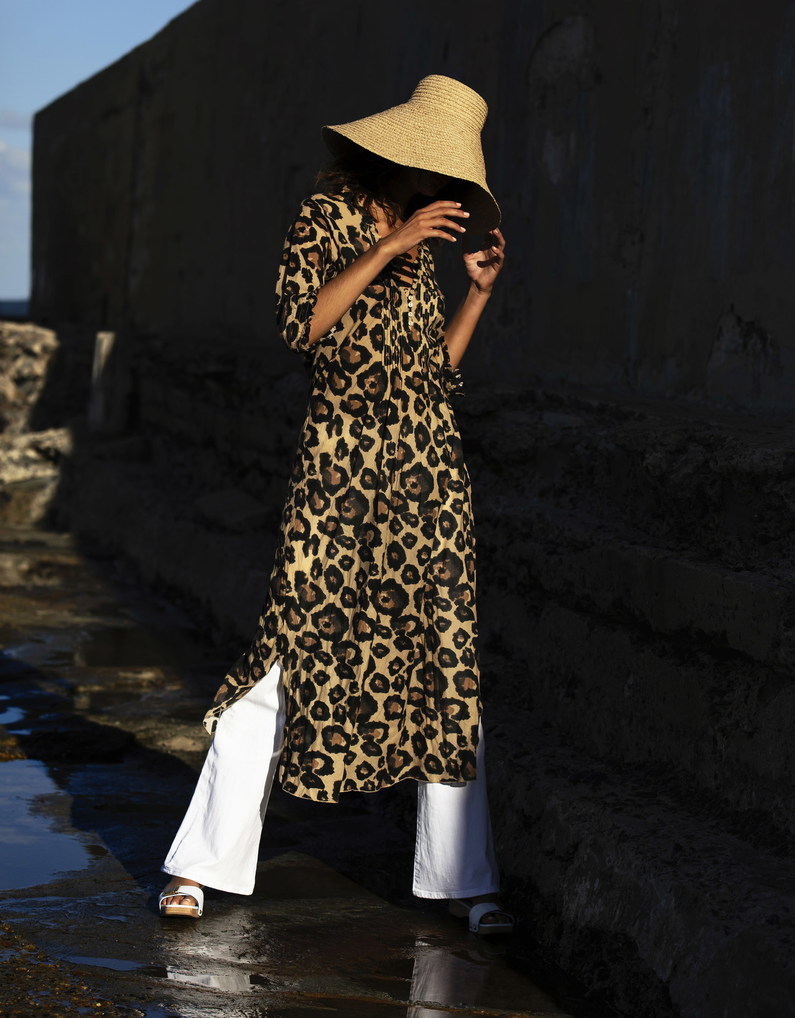 ONESEASON LONG POPPY DRESS SAHARA