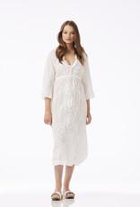 ONESEASON LONG BYRON DRESS WHITE