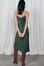 SILK LAUNDRY 90S SLIP DRESS CEDAR