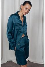 SILK LAUNDRY BOYFRIEND SHIRT BLUE SPRUCE