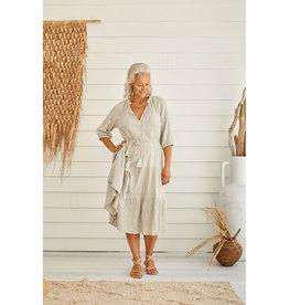 TALAMAYA CASTAWAY LONG GYPSY DRESS SILVER