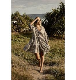TALAMAYA NIKITA BEACH DRESS BLACK PEARL