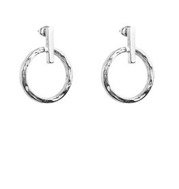 ZOE SMALL RING & POLISHED BAR EARRINGS  SILVER