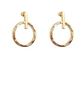 ZOE SMALL RING & POLISHED BAR EARRINGS  ROSE