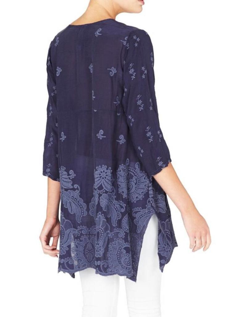 SALE - JOHNNY WAS PAISLEY FLAIR BLOUSE OAT