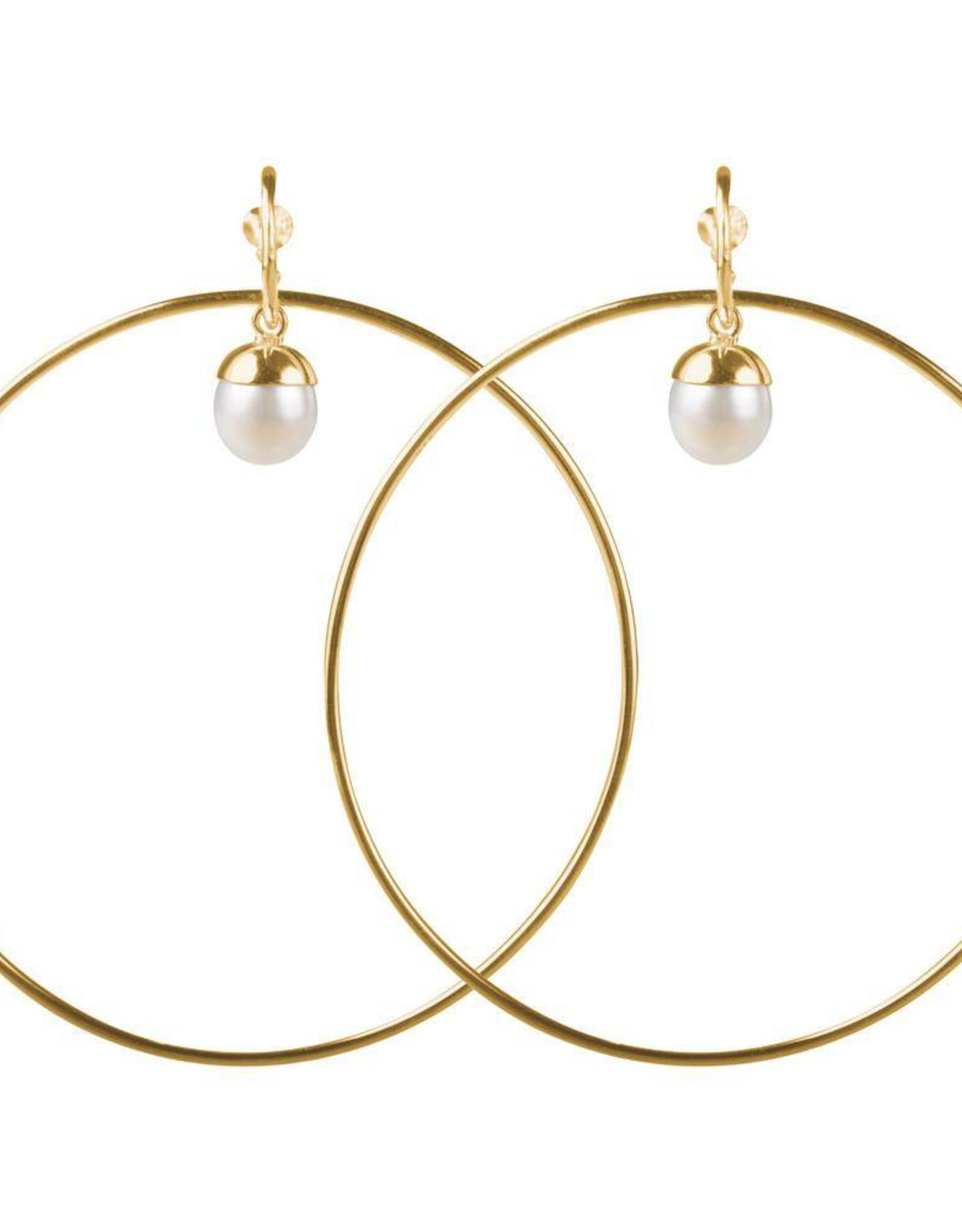 PEARL HULA EARRINGS GOLD