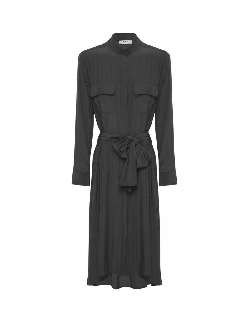 MELA PURDIE STAND COLLAR DRESS ZINC