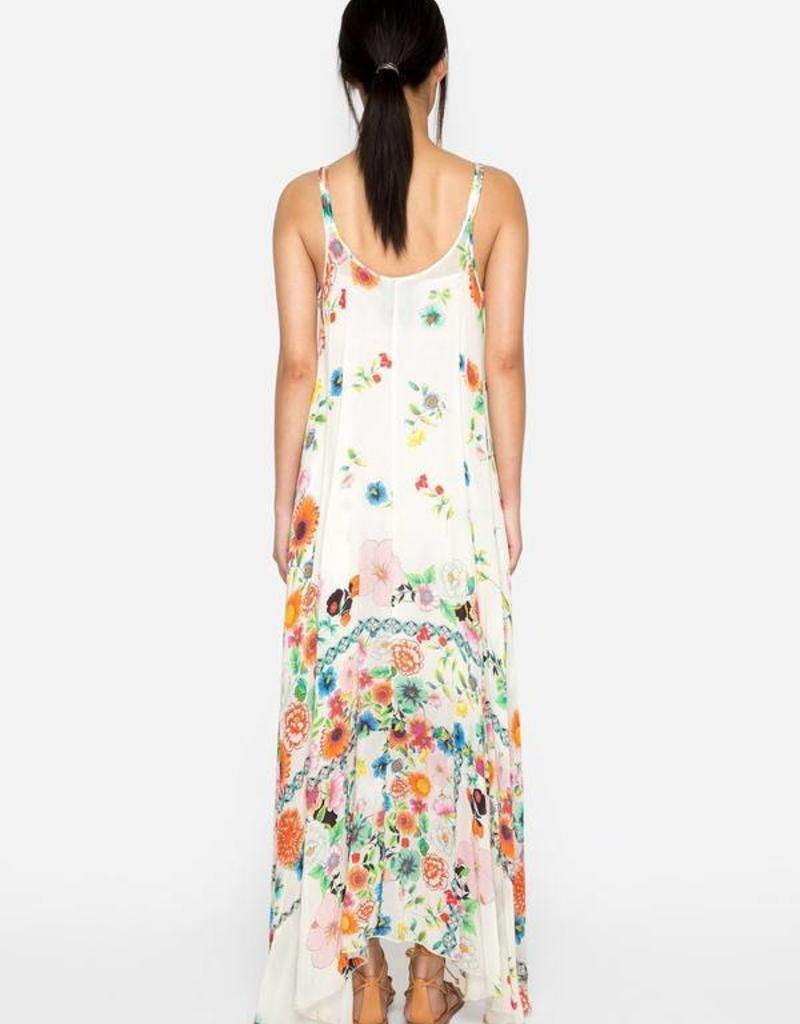 JOHNNY WAS FORMA HANKERCHIEF TANK DRESS FLORAL MULTI