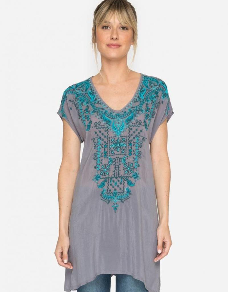 SALE - JOHNNY WAS EROS TUNIC BLUE STEEL