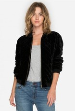 SALE - JOHNNY WAS QUILTED BOMBER JACKET BLACK