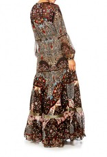 CHAMBER OF REFLECTIONS PEASANT MAXI DRESS
