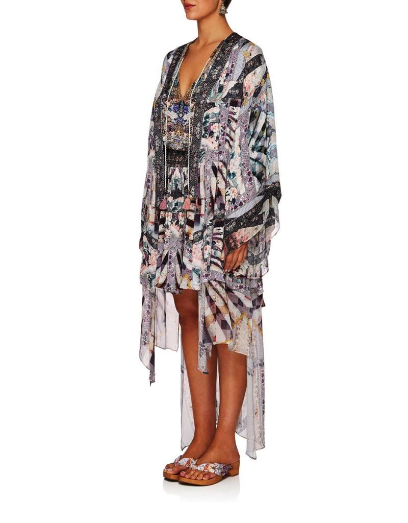 CAMILLA IN HER SHOES KIMONO W/LONG UNDERLAY
