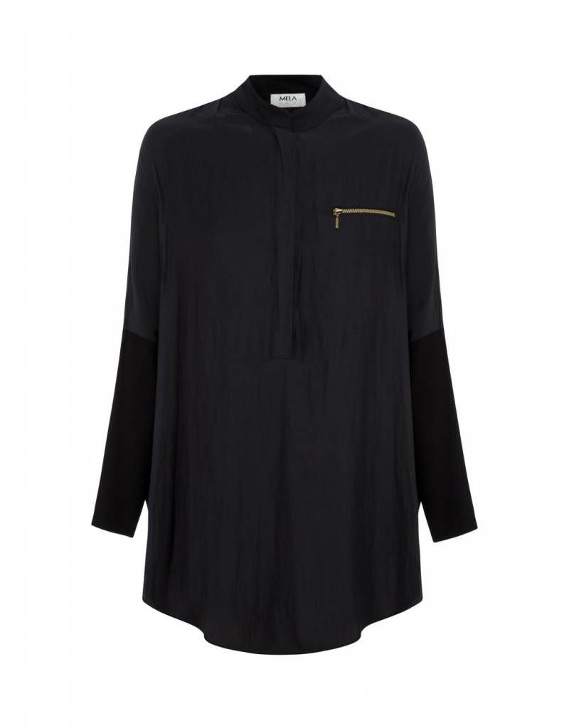 MELA PURDIE SPLICED ZIP OVERSHIRT