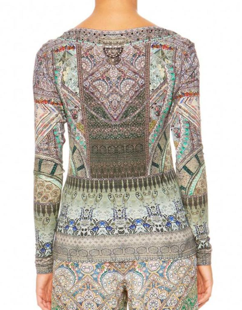 SALE - MAMAS HOME LONG SLEEVE FITTED TOP