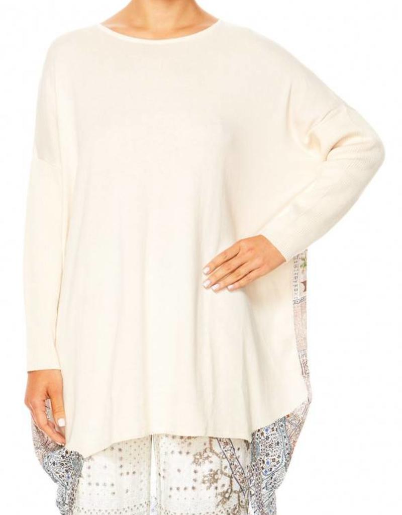 CAMILLA BREAKFAST WITH SYLVIA LONG SLEEVE JUMPER W/ PRINTED BACK