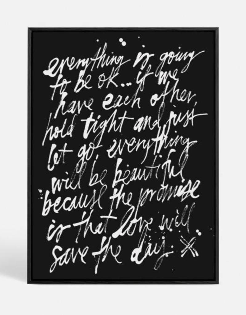 BLACKLIST -  LOVE WILL SAVE CANVAS PRINT