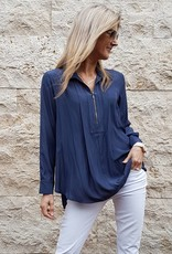 MELA PURDIE ZIP PLEAT SHIRT ECLIPSE