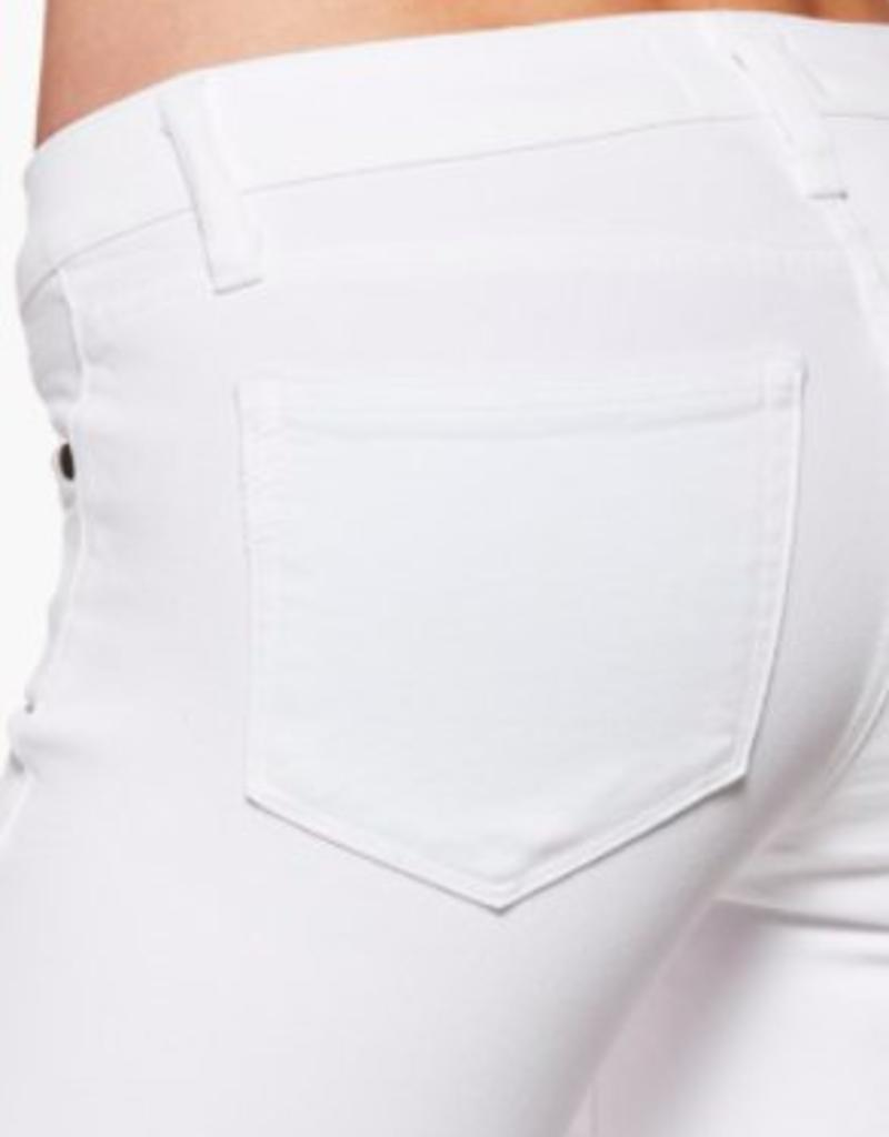 PAIGE VERDUGO CROP ANGLE ZIP AND RAW HEM