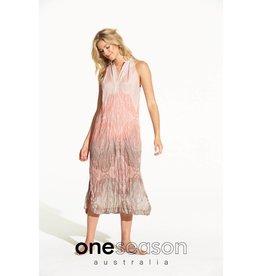 ONESEASON JACQUI DRESS TAJ BLUSH/LATTE