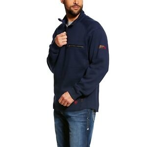 ARIAT FR REV 1/4 ZIP NAVY 10022333