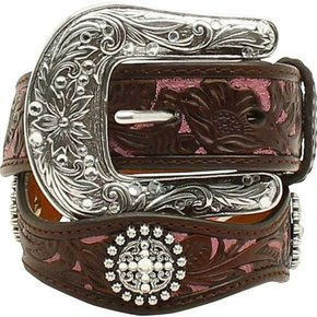 NOCONA BELTS ARIAT GIRLS SCALLOPED BELT A1301802
