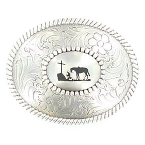 NOCONA COWBOY PRAYER BUCKLE 37056