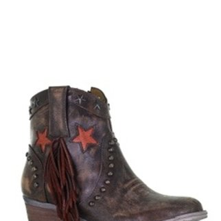 CIRCLE G FRINGE AND STUDS ANKLE Q0181