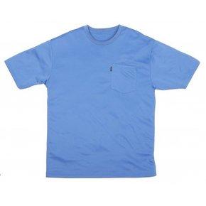 KEY INDUSTRIES KEY PERF COMFORT S/S BLUE POCKET TEE 821.42